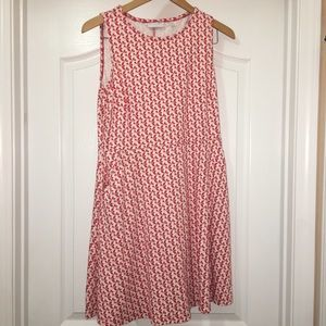 NY&C Pink Coral Geometric Print Dress Size L
